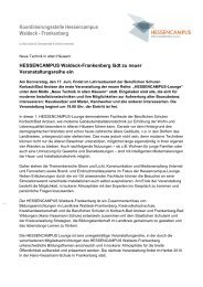 Koordinierungsstelle Hessencampus Waldeck - Frankenberg