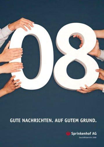 Gute NachrichteN. auf Gutem GruNd. - Sprinkenhof AG