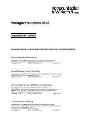 Verlagsverzeichnis 2012 - Kommunikation & Wirtschaft GmbH