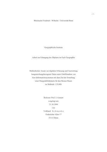 Diplomarbeit Druckversion - Schmanke, Volkhard