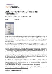 PDF :: fair-NEWS.de :: Das Know-How der Firma Viessmann bei ...