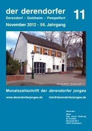 der derendorfer November 2012 - 56. Jahrgang Derendorf