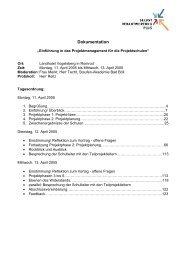 Projektplanung - Berufliche Bildung in Hessen
