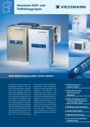 Viessmann Kühl- und Tiefkühlaggregate - Alpha Kältetechnik Handels