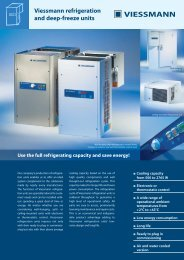 Viessmann refrigeration and deep-freeze units