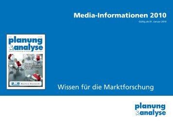 Auflage & Verbreitung - Planung & Analyse