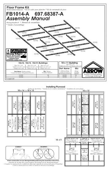 6' x 6' x 6' Shed-in-a-Box® Assembly Instructions