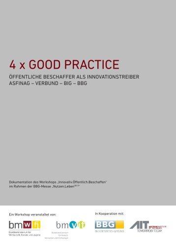 4 x Good Practice - Öffentliche Beschaffer als Innovationstreiber