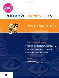 Amaxa news #6 - lonza