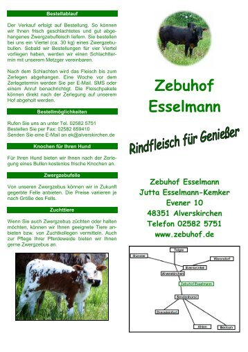 Zebuhof Esselmann - in Alverskirchen