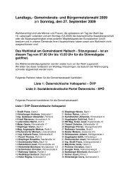 Landtags,- Gemeinderats- und ... - Haibach ob der Donau