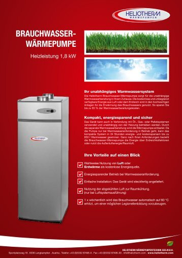 brauchwasser- wärmepumpe - Heliotherm