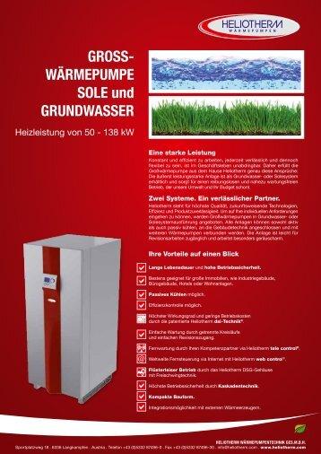 Gross- wärmepumpe sole und Grundwasser - Heliotherm