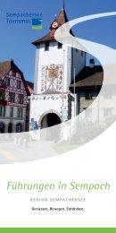 Führungen in Sempach - Sempachersee Tourismus