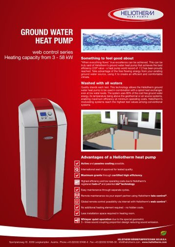 GROUND WATER HEAT PUMP - Heliotherm
