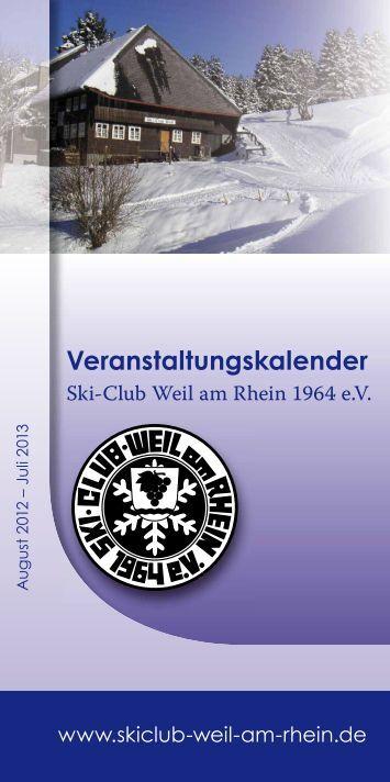 Veranstaltungskalender - Ski-Club Weil am Rhein