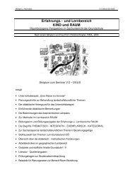 Erfahrungs - und Lernbereich KIND und RAUM