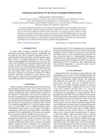 Ginzburg-Landau theory for the Jaynes-Cummings-Hubbard model