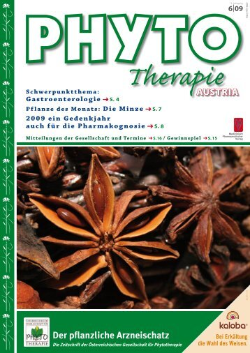 Der pflanzliche Arzneischatz - bei PHYTO Therapie