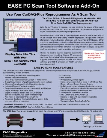 EASE PC Scan Tool Software Add-On - EASE Add-Ons For Drew ...