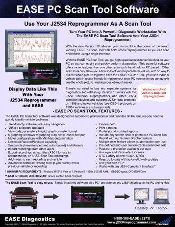 EASE PC Scan Tool Software for J2534 Reprogrammer