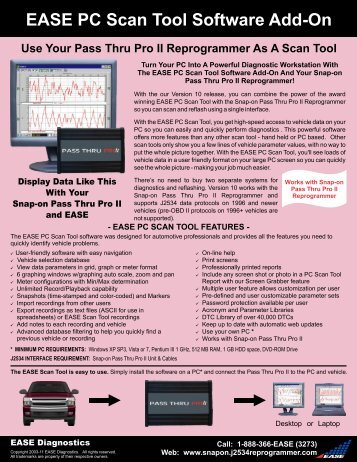 EASE PC Scan Tool Software Add-On - EASE Add-Ons For Snap-on ...