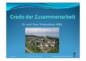 Wiedersheim credo Zusammenarbeit