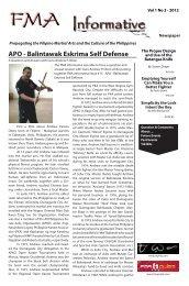 FMA Informative Newspaper Vol1 No.3 - 2012