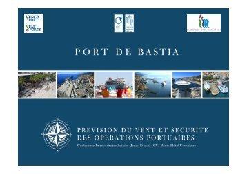 PORT DE BASTIA Table Ronde - VENTO E PORTI