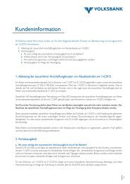 Kundeninformation - Volksbank Graz-Bruck