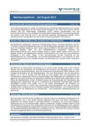 Marktperspektiven Juli/August 2012 - Volksbank Graz-Bruck