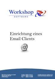 Einrichtung eines Email Clients - Workshop Software GmbH