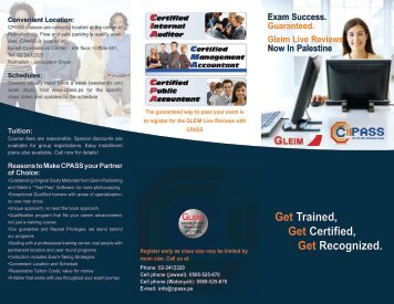 Get Trained, Get Certified, Get Recognized. - cpass