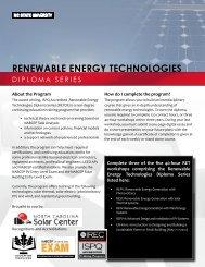 renewable energy technologies - North Carolina Solar Center