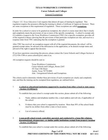 512) 776-7544 Secure Online Request Form For Exemption - Texas ...