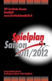 Saison Spielplan - Fortitudo Gossau