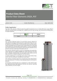 Product Data Sheet Sterile Filter Elements ERZA..PST - Home: FST ...
