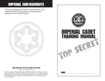 Imperial Cadet Training Manual (Kid's Activity Book) - 501st Legion