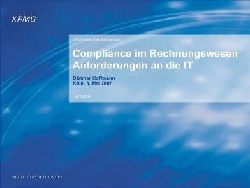 Compliance im Rechnungswesen Anforderungen an die IT - Datasec