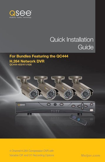 Quick Installation Guide - Meijer