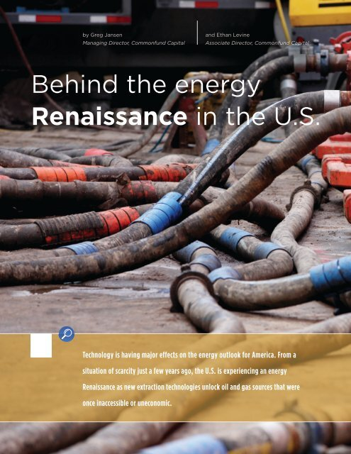 Behind the energy Renaissance in the U.S. - Commonfund