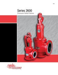 Series 2600 pressure relief valves - Farris Engineering