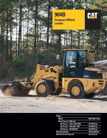 Specalog for 904B Compact Wheel Loader - Kelly Tractor