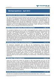 Marktperspektiven April 2012 - Volksbank Graz-Bruck