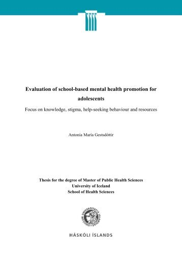 Evaluation of school-based mental health promotion for ... - Skemman