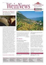 Sommer in Südtirol! Die brillanten Weine aus Kurtatsch ... - Villa Vinum