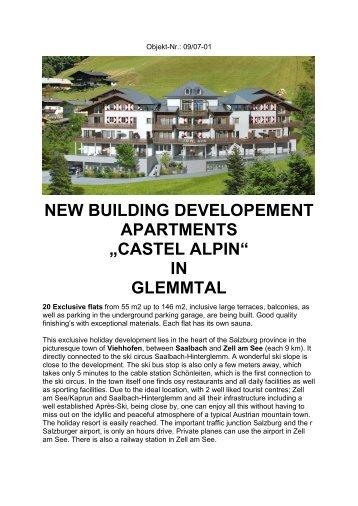 "NEW BUILDING DEVELOPEMENT APARTMENTS ""CASTEL ALPIN ..."