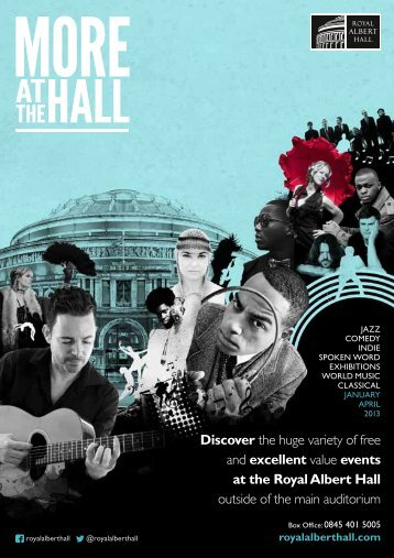 Discover the huge variety of free and excellent ... - Royal Albert Hall