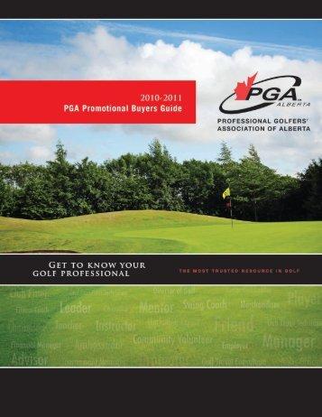 PGA Promotional Buyers Guide - PGA of Alberta