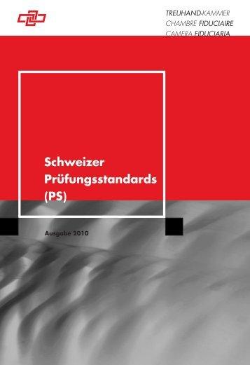 Schweizer Prüfungsstandards (PS) - Ausgabe 2010 - Finanzkontrolle